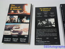 Vtg WWII THE BATTLE OF EL ALAMEIN Movie Video VHS Color 1971 Frederick Stafford