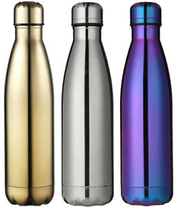 500ML Double-Walled Stainless Steel Vacuum Insulated Drinking Water Bottle Flask