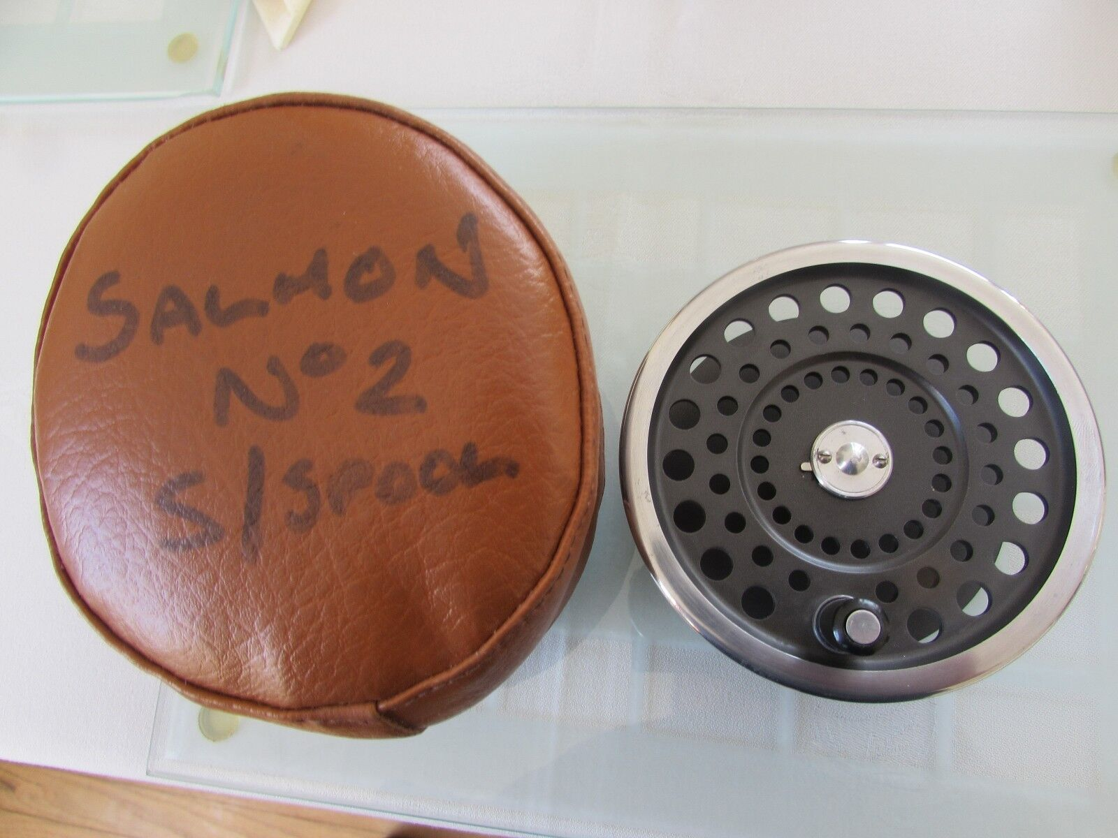 Excellent Excellent Excellent vintage hardy marquis no. 2 spool for salmon fly fishing reel + case.` 6c9223