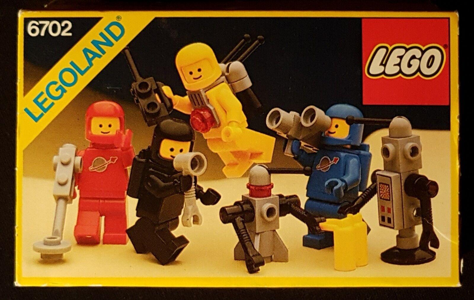 LEGO 6702-CLASSIC SPACE MINIFIGURES - 1986 Legoland minifigs, 80s VINTAGE MISB
