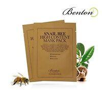 [benton] Snail Bee High Content Sheet Mask Pack 10 Pcs [usa Seller]