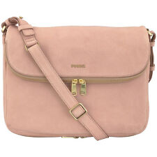 Fossil Preston Flap Pink Leather Women's Handbag ZB6806244