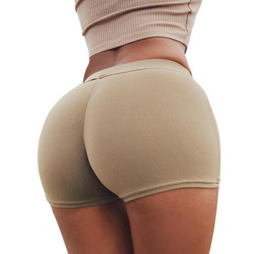 Fashion Women Sports Gym Workout Waistband Skinny Slim Yoga Shorts Pants S-XL