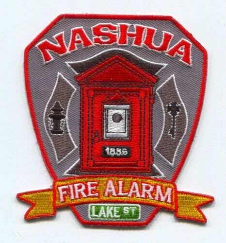 Nashua Fire Department Fire Alarm Patch New Hampshire NH