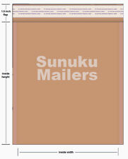 325 unit #00 size (5 x 9) Lite Kraft Bubble Mailers Envelopes - Free Shipping