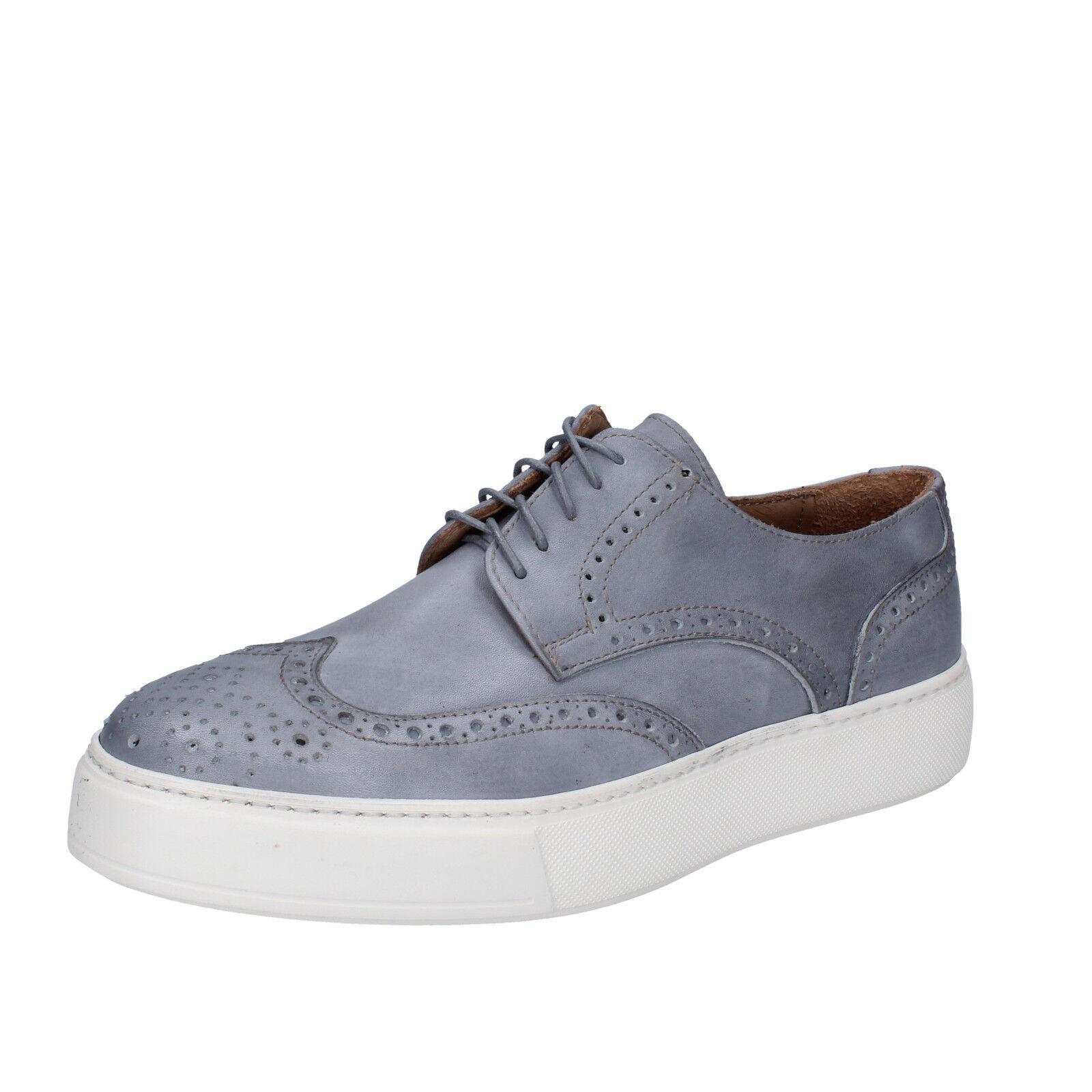 da da da Uomo Di Mella 40 UE Elegante scarpe da ginnastica grigio in pelle ab931-b 4e81c0