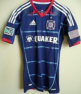 premium selection 1ecf0 effda Details about MLS Adidas TECHFIT PowerWeb Chicago Fire Authentic Soccer  Jersey Size 4 (S) NWT