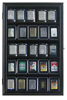 Sport/military Cigarette Lighter Display Case Wall Shadow Box Cabinet, Lc03