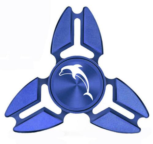 Fidget Spinner Tri-Spinner Aluminum Metal Dolphin