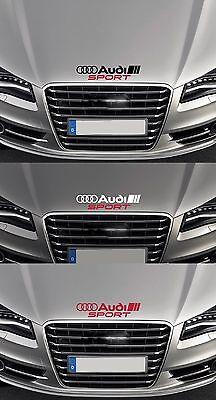 """""""audi Sport"""" Cofano Auto In Vinile Decalcomania Sticker Adatta A3 A4 Tt Quattro 300mm Di Lunghezza-"""