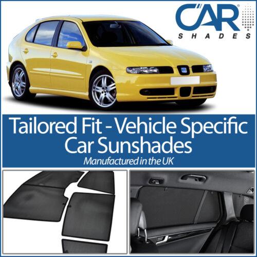 Seat Leon 5dr 2000-05 UV CAR SHADES WINDOW SUN BLINDS PRIVACY GLASS TINT BLACK