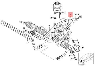 SWAG Power Steering Hose Fits BMW E46 Coupe Hatchback Sedan Wagon 32411094951
