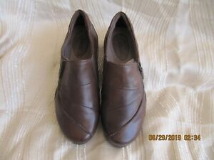 Earth Origins Womens Shoes Size 7 9 Nola Loafers Welltek System Brown