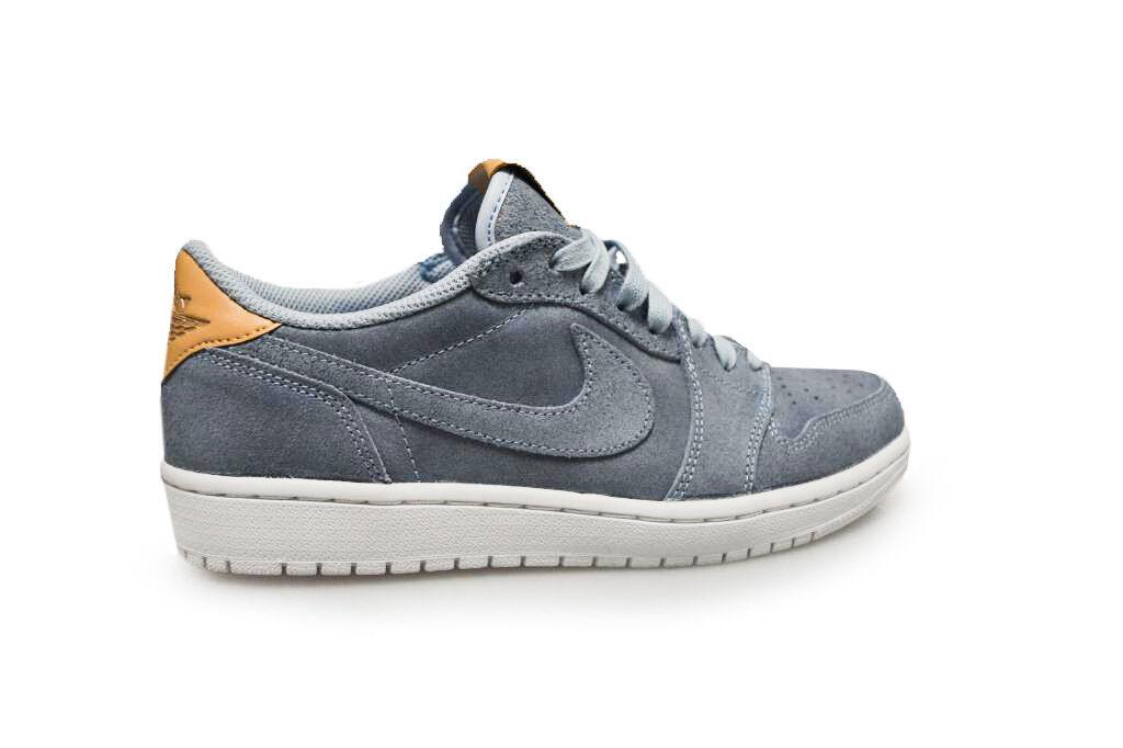Mens Nike Air Jordan 1 - Retro Low OG Prem - 1 905136402 - Blue White Beige Trainers 3cf885
