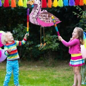 PINATA-FLAMINGO-CHILDREN-BIRTHDAY-PARTY-HANGING-DECOR-KNOCK-TOY-GAME-PROP