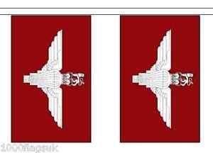Armée Britannique Régiment De Parachutistes Polyester Bruant Drapeau - 6m Long Mepsbwyr-08002445-209093711