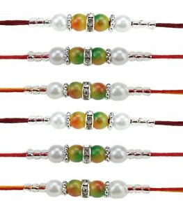 Collectibles Fast Deliver 6 X Rakhi Thread Bracelet Multicolour Bead Raksha Bandhan Rakhi Wrist Band Dora Hinduism