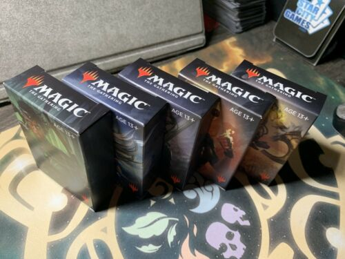 Blue Black Green Red White 5x Core 2020 Welcome Decks Sealed Complete Set M20