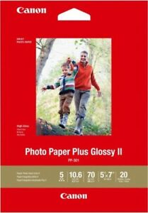 Canon Photo Paper Plus Glossy Ii 5x7 20 Sheets Ebay