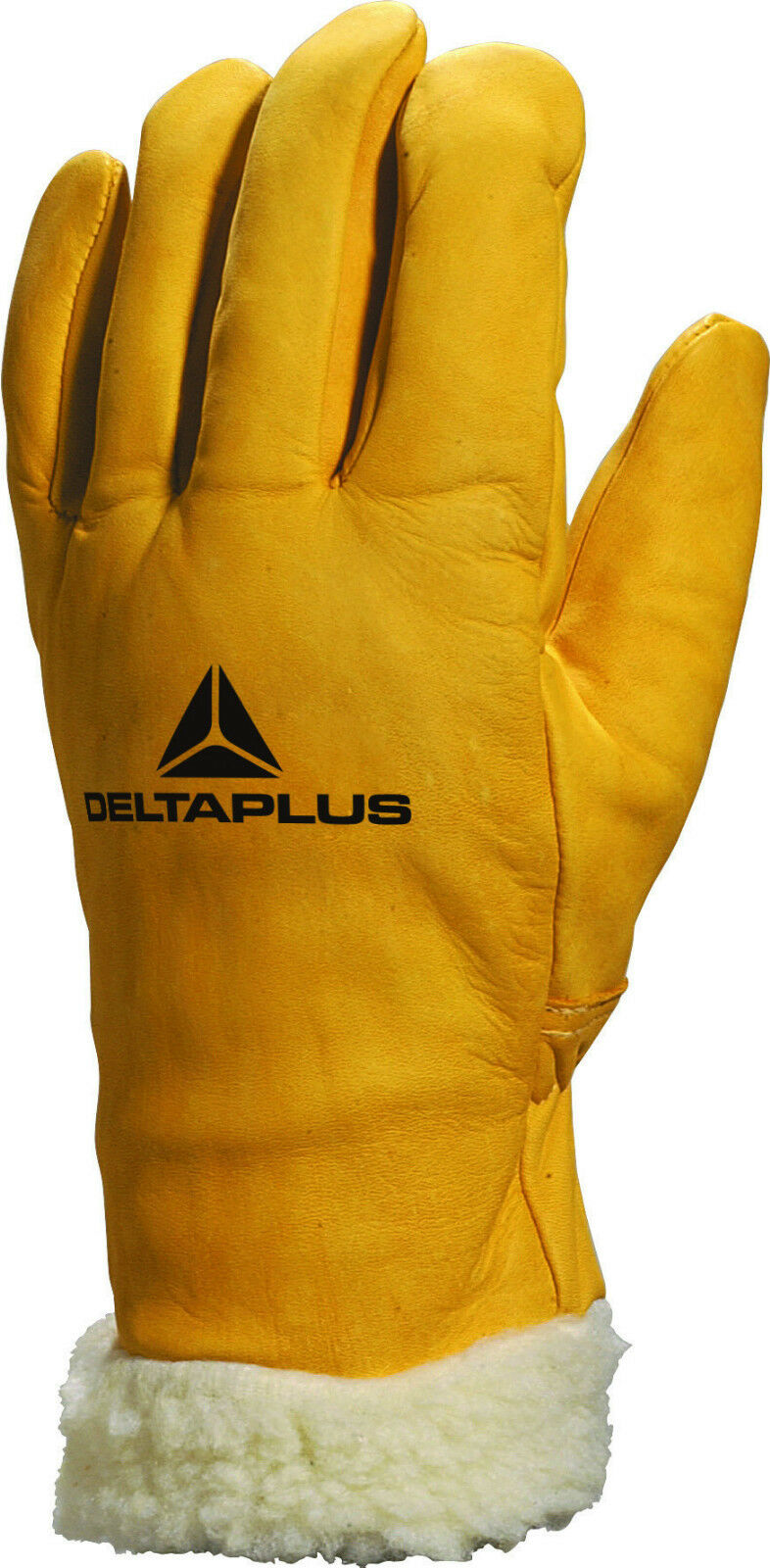 x2 Pairs Delta Plus Venitex FBF15 Mens Fur Lined Leather Winter Thermal Gloves