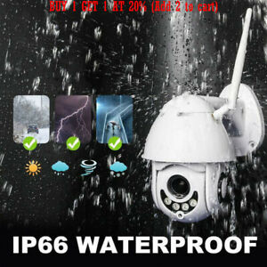 Outdoor-Waterproof-WiFi-PTZ-Pan-Tilt-1080P-HD-Night-Vision-IP-IR-Security-Camera