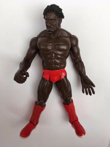 Raro WWE Booker T JAKKS realstic lucha libre figura atuendo rojo
