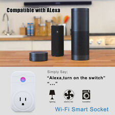 Smart WiFi Socket Plug Outlet Timer Control Electronics Compatible Alexa US Plug