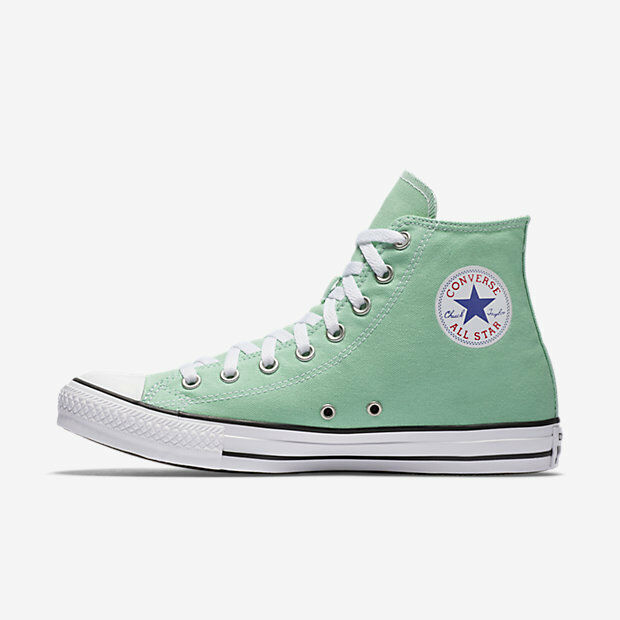 de162892de2e9c Converse Chuck Taylor Hi Top Shoes Size Men 10.5   Women 12.5 MINT Green  136561f for sale online