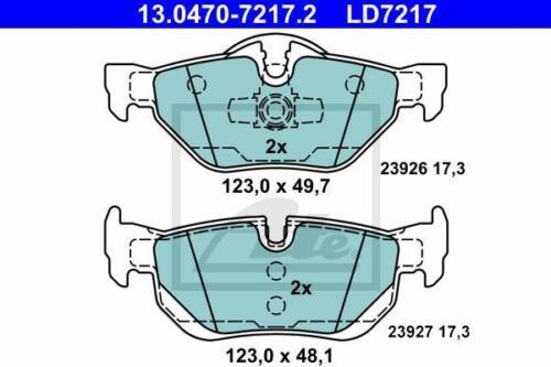 1x ATE Ceramic hinten Bremsbeläge BMW 1er E81//E82//E87//E88 3er E90//E91//E92//E9 X1