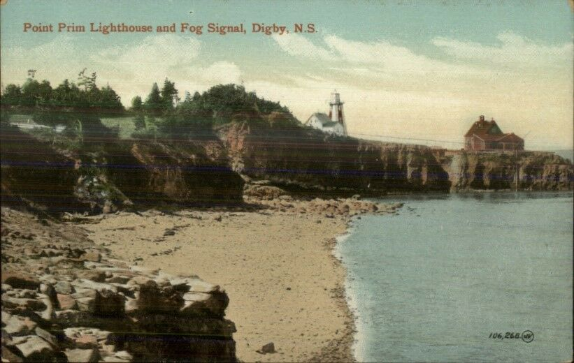 Digby Nova Scotia Lighthouse & Fog Signal c1910 Postcard #3