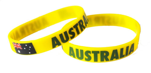 Australia World Cup Olympics Rugby Cricket Aussie OZ Silicone Wristbands