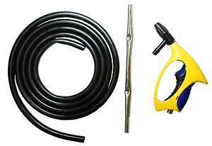 LEMATEC Sandblaster Nozzle Gun W 10 ft Siphon Tube Portable Air Sandblasting Gun