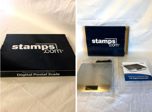 Digital Postal Scale LCD USB Stamps.com Stainless Steel 5lb