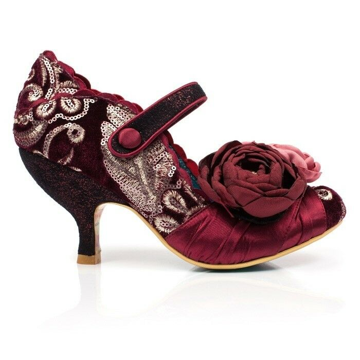 Irregular Choice Upon Thames Bordeaux Heel Mid Heel Bordeaux Schuhes 3c5b47