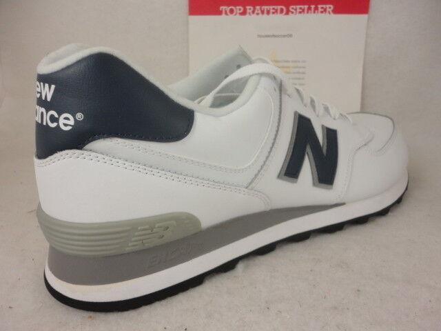 New Balance 574, NB574WNY, Weiß   Blau   grau, Classics, Leather, Größe 13