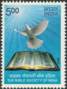 INDIA-2010-Bible-Society-Christianity-Dove-stamp-1v-MNH
