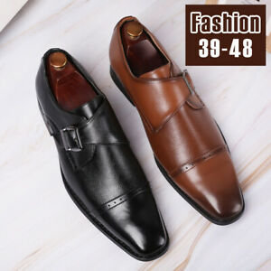 Men-Formal-Leather-Dress-Shoes-Office-Business-Oxford-Pointed-Toe-Casual-Slip-On