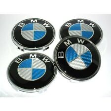 High quality 4x bmw blue carbon wheel center caps 68mm