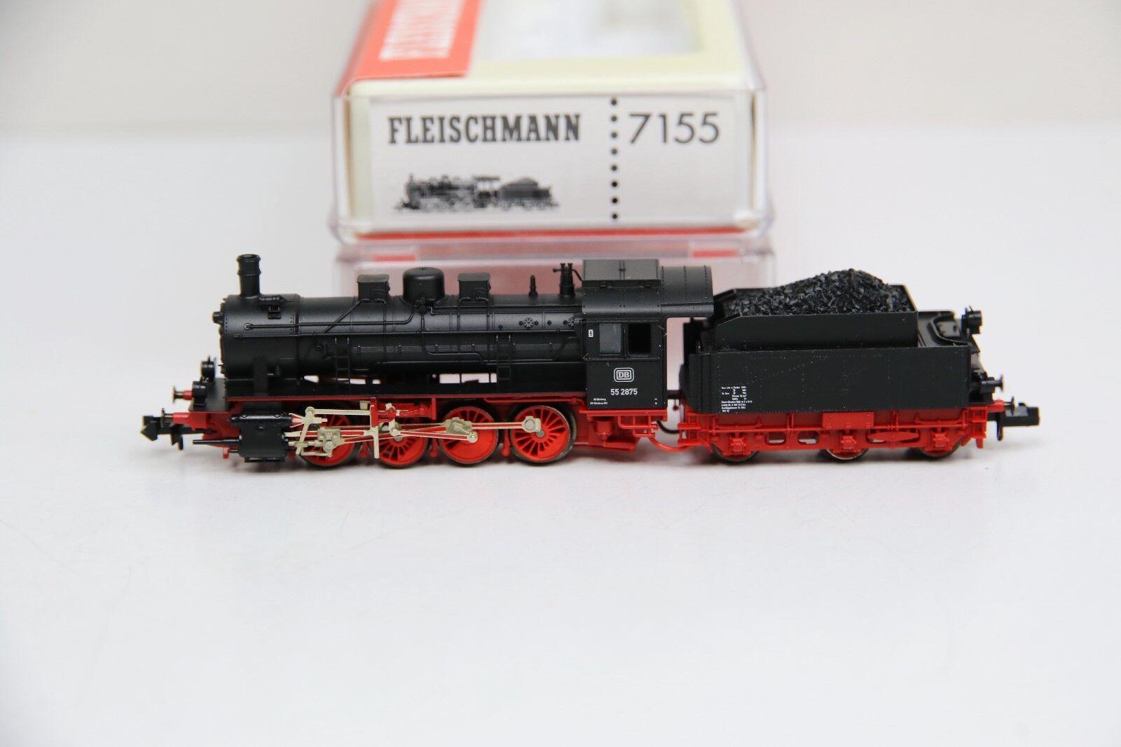 Fleischmann pista n 7155 schlepptenderlok br 55 2875 de la DB en embalaje original (rb9453)