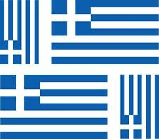 4x Adhesivo adesivi pegatina sticker vinilo bandera vinyl moto coche grecia