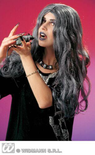 Grey Witch Crudelia Wig for Halloween Fancy Dress Accessory