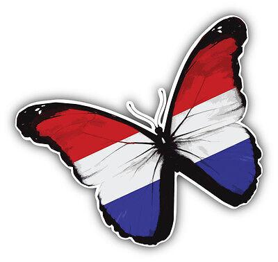 Netherlands Butterfly Flag Car Bumper Sticker Decal 5/'/' x 5/'/'