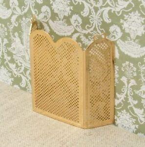 1:12 Dolls House 'Brass' firescreen