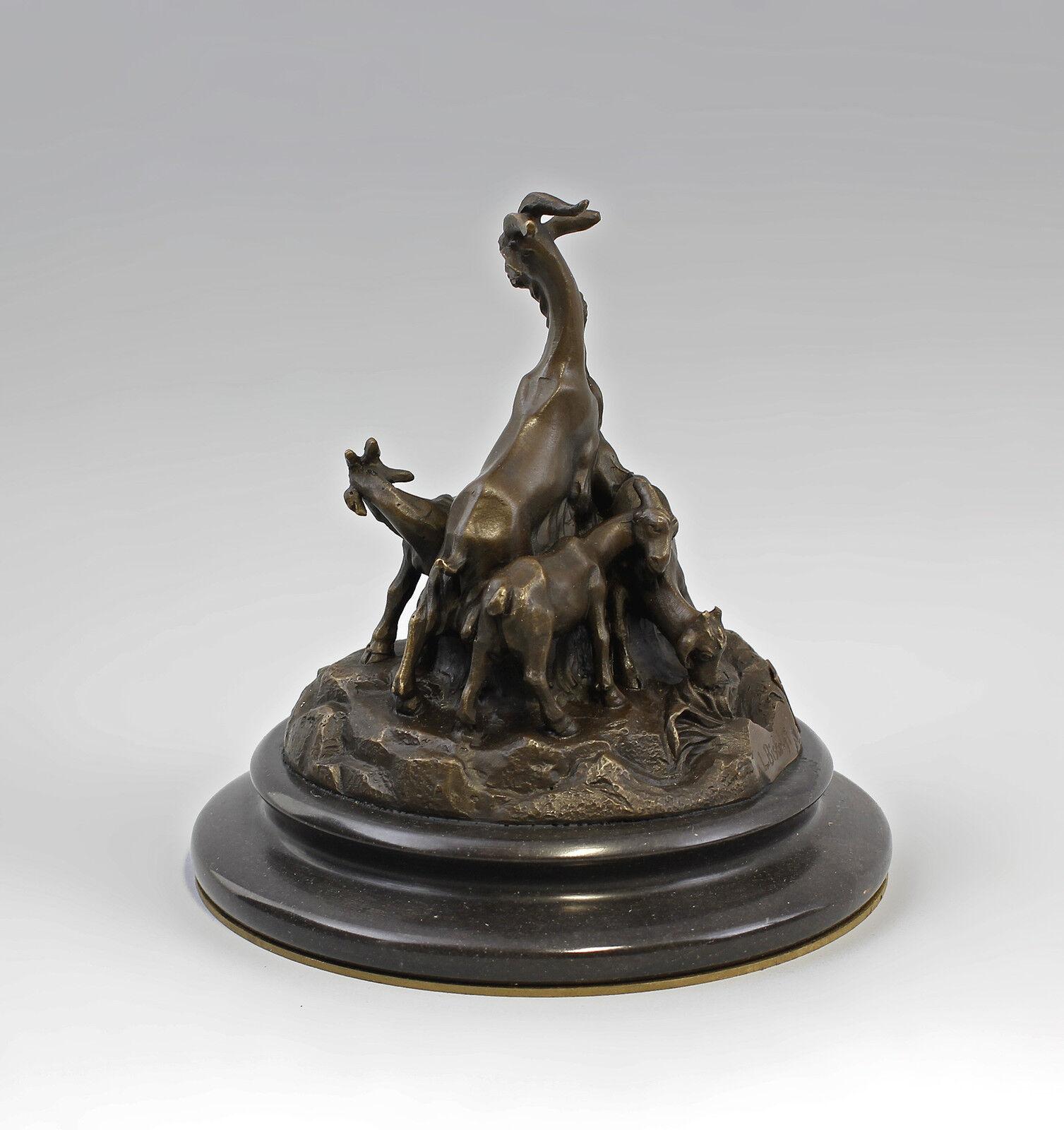 9937938 bronze sculpture personnage chèvres groupe chèvre bouc sign. sign. sign. Bistolfi h17cm | Exquis  | La Mise à Jour De Style  | Spécial Acheter  bf343b