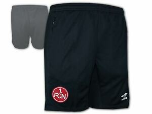 Umbro-1-FC-Nuernberg-Training-Short-schwarz-FCN-Club-Sporthose-Fan-Turnhose-S-3XL