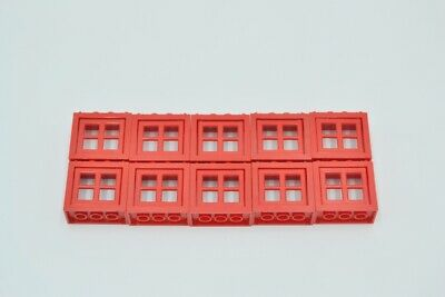 LEGO 10 x Fenster /& Fensterrahmen rot 2x4x4 Creator red window 4132 4133