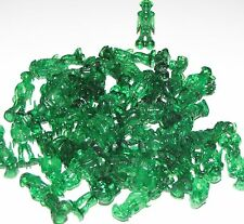 LEGO LOT OF 50 NEW TRANSPARENT GREEN ALIENS MARTIAN LIFE ON MARS FIGURES