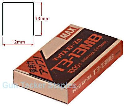2000pcs Staples MAX T3-13MB Gun Tacker 13 12 mm for MAX TG-A /& TG-D Gun Stapler