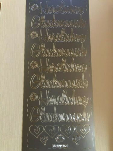 """Konturensticker Sticker für Kartengestaltung /""""Herzlichen Glückwunsch/"""""""