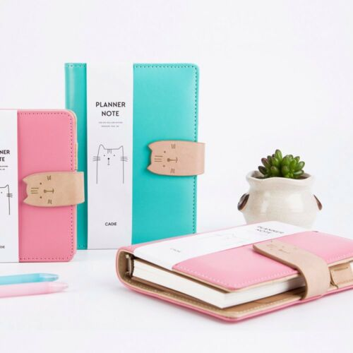 A6//A7 Loose Leaf Diary Notebook Ruled Blank Paper Planner Schedule Cat Organiser